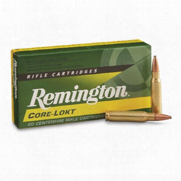 Remington, .308 Winchester, Psp Core-lokt, 150 Grain, 20 Rounds