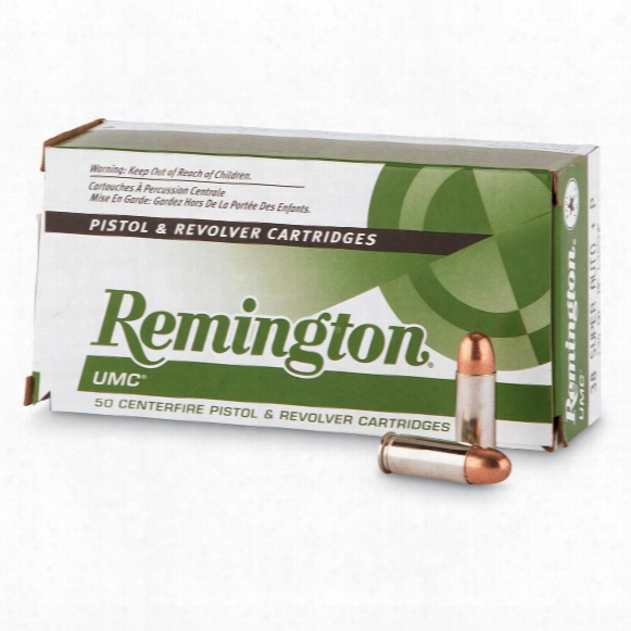 Remington, .38 Super Auto (+p), Mc, 130 Grain, 500 Rounds