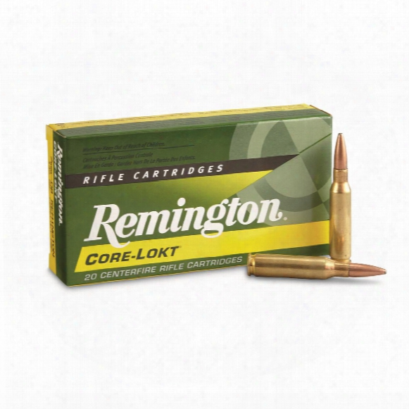 Remington, 7mm-08 Remington, Psp Core-lokt, 140 Grain, 20 Rounds