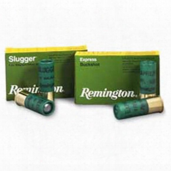 "Remington Buckshot, 2 3/4"" 12 Gauge, No. 4 Buckshot, 27 Pellets, 250 Rounds"