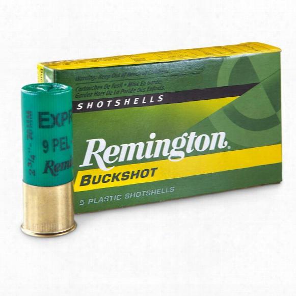 "Remington Buckshot, 3"" Magnum, 12 Gauge, 00 Buckshot, 15 Pellets, 5 Rounds"