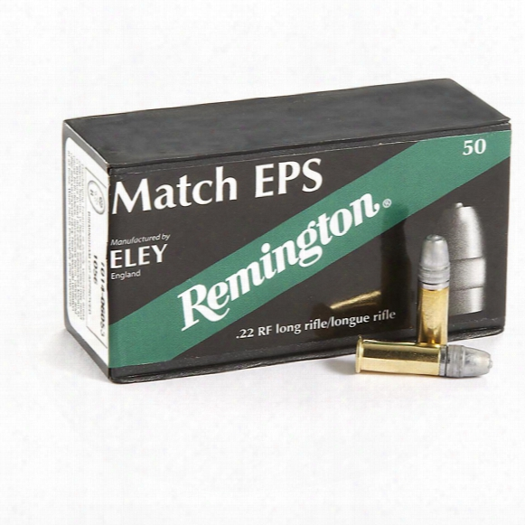 Remington, Eley Match Eps, .22lr, Lfn, 40 Grain, 50 Rounds