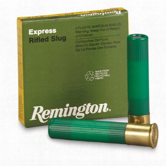 "Remington Express, .410 Gauge, 2 1/2"" Shell, 1/5 Oz. Slug, 5 Rounds"