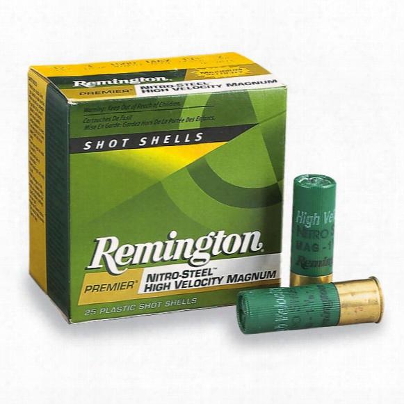 "Remington High-velocity Nitro Steel 12 Gauge 2 3/4"" 1 1/4 Ozs. 25 Rounds"