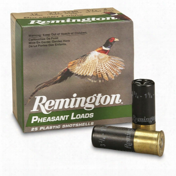 "Remington Pheasant Loads, 12 Gauge, Pl12, 2 3/4"" 1 1/4 Ozs., 25 Rounds"