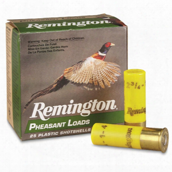 "Remington, Pheasant Loads, Pl20 2 3/4"" 1 Ozs., 20 Gauge, 25 Rounds"
