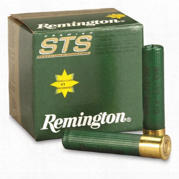 "Remington Premier Sts Clay Target Loads, .410 Gauge, 2 1/2"", 1/2 Oz., 25 Rounds"
