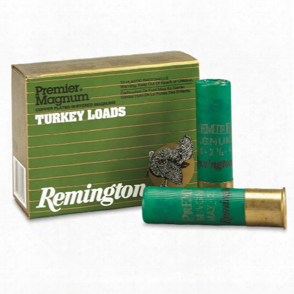 "Remington Premier Turkey Loads, 12 Gauge, 3 1/2"" Shell, 10 Rounds"