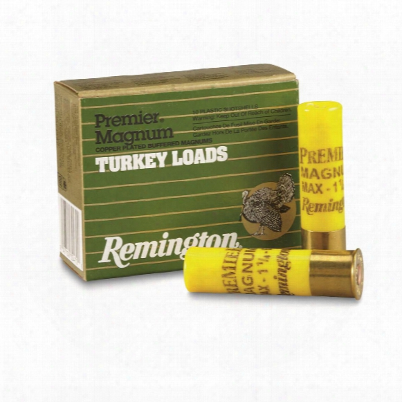 "Remington, Premier Turkey Loads, 20 Gauge, 3"" 1 1/4 Ozs., 6 Shot, 10 Rounds"
