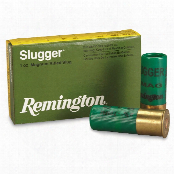 Remington, Slugger, 12 Gauge, 2 3/4&q Uot; Shell, 1 Oz. Slug, 5 Rounds