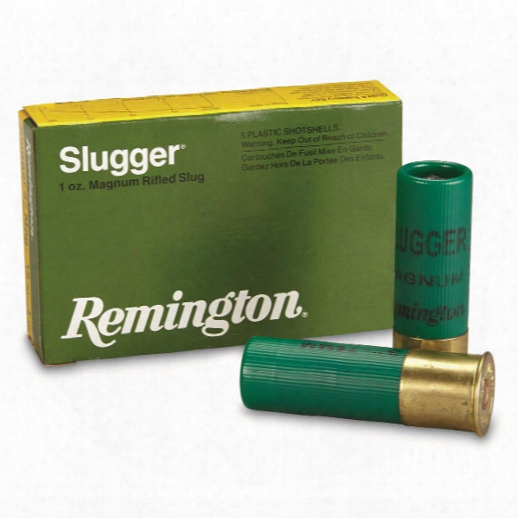 "Remington, Slugger, 12 Gauge, 3"" Shell, 1 Oz. Slug, 5 Rounds"