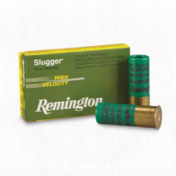 """Remington Slugger High Velocity Slugs, 12 Gauge, 2 3/4"""" Shell, 7/8 Oz., 5 Rounds"""