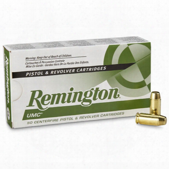 Remington, Umc, .40 S&w, Mc, 165 Grain, 500 Rounds