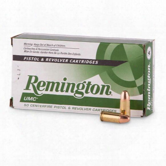 Remington Umc, 9mm Luger, Fmj, 115 Grain, Mc, 1,000 Rounds