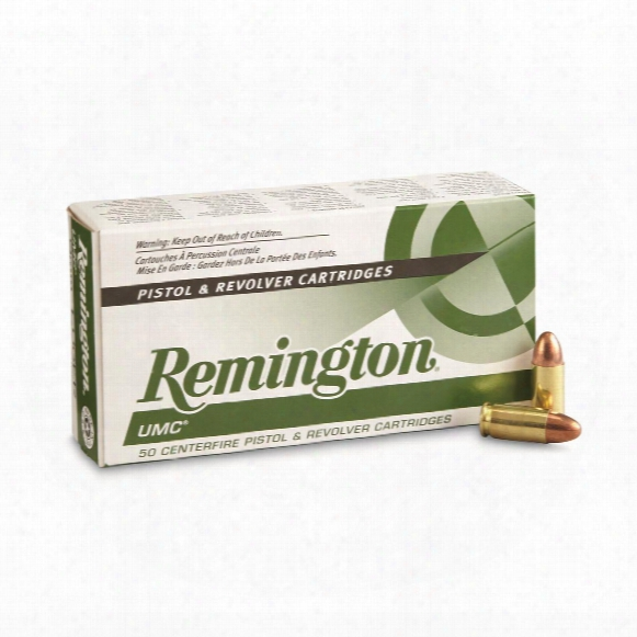 Remington Umc, 9mm Luger, Mc, 124 Grain, 50 Rounds