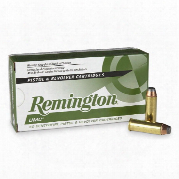 Remington Umc Handgun, .44 Remington Magnum, Jsp, 180 Grain, 50 Rounds