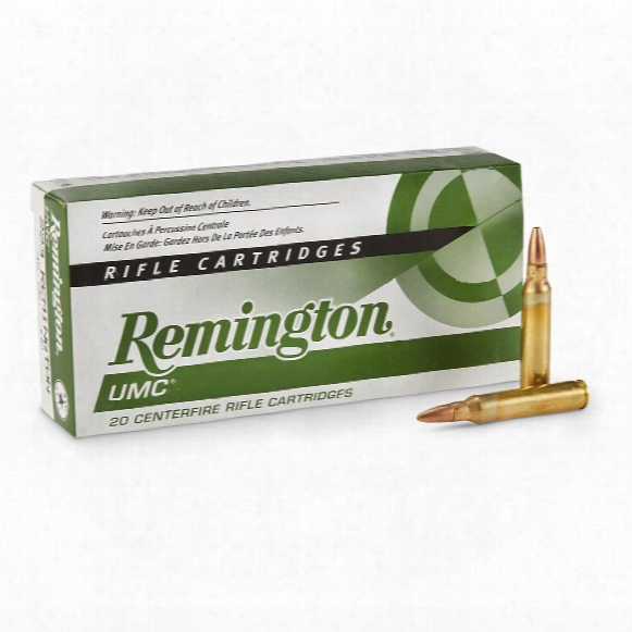 Remington Umc Rifle .223 Remington, Jhp, 45 Gra1n, 20 Rounds