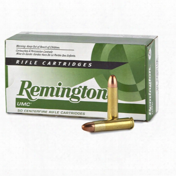 Remington Umc Rifle, .30 Carbine, Mc, 110 Grain, 50 Rounds