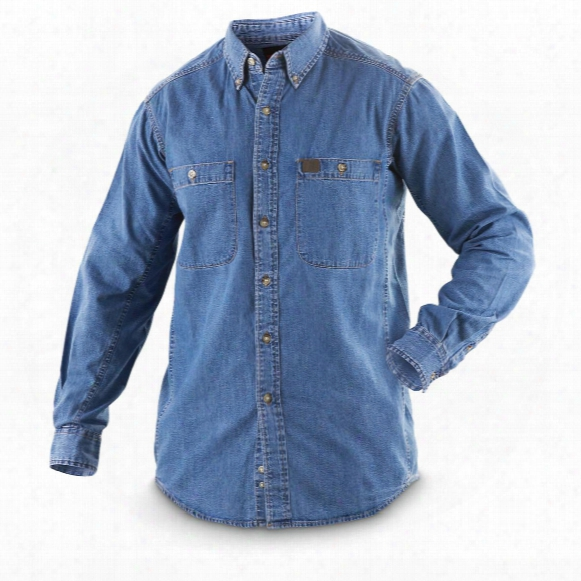 Riggs® By Wrangler® Denim Work Shirt, Antique Navy