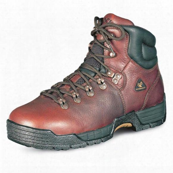 """Rocky Men's Mobilite 5"""" Steel Toe Boots, Dark Brown"""