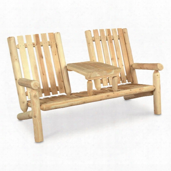 Rustic Natural Cedar Furniture Company® Cedar Log Garden Loveseat