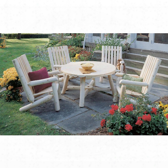 Rustic Natural Cedar Furniture Company® Cedar Log 5 - Pc. High Back Table Group
