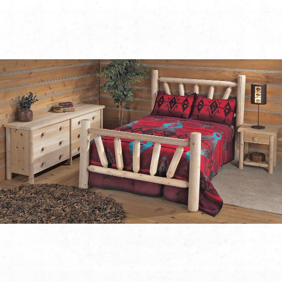 Rustic Natural Cedar Furniture Company® Twin Cedar Log Bed