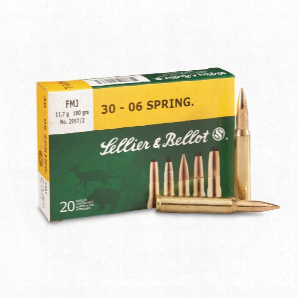 Sellier & Bellot, .30-06 Springfield, Fmj, 180 Grain, 20 Rounds