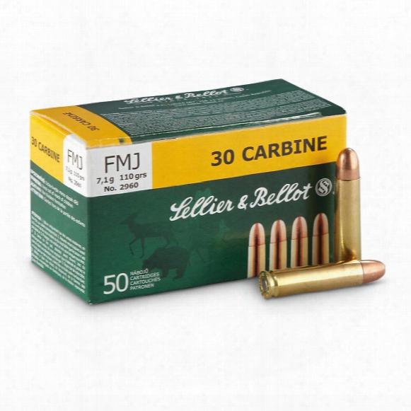 Sellier & Bellot, .30 Carbine, Fmj, 110 Grain, 50 Rounds