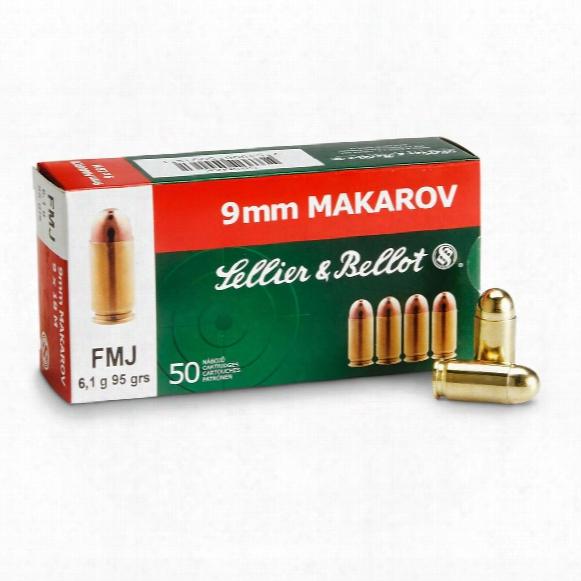Sellier & Bellot, 9x18mm Makarov, Fmj, 95 Grain, 50 Rounds