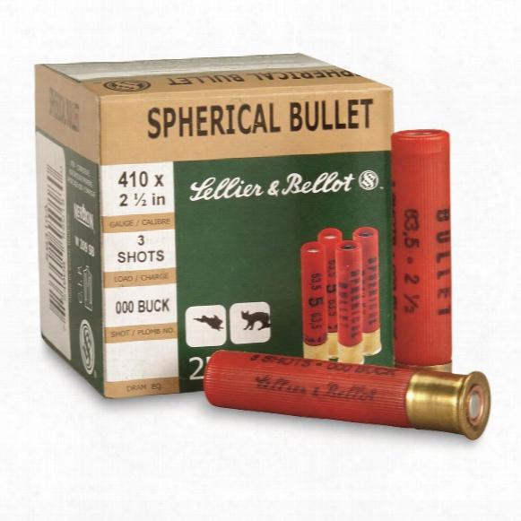 """Sellier & Bellot Buckshot, 2 1/2"""" .410 Gauge, 000 Buckshot, 3 Pellets, 25 Rounds"""