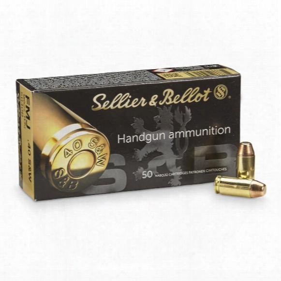 Sellier & Bellot Handgun, .40 Smith & Wesson, Fmj, 180 Grain, 50 Rounds