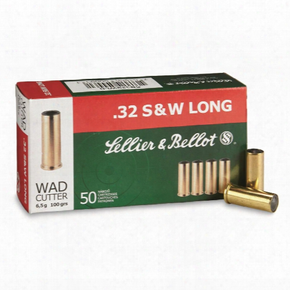 Sellier & Bellot Pistol, .32 S&w Long, Wc, 100 Grain, 50 Rounds