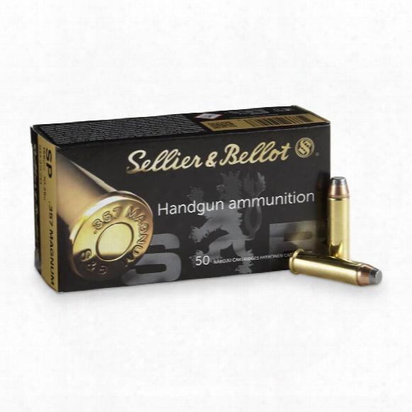 Sellier & Bellot Pistol, .357 Magnum, Sp, 158 Grain, 50 Rounds