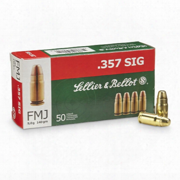 Sellier & Bellot Pistol, .357 Sig, Fmj, 140 Grain, 50 Rounds