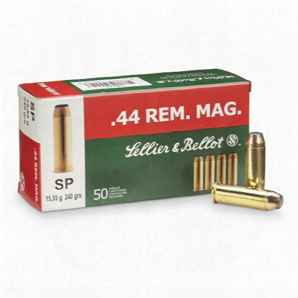 Sellier & Bellot Pistol .44 Magnum 240 Grain Sp 50 Rounds
