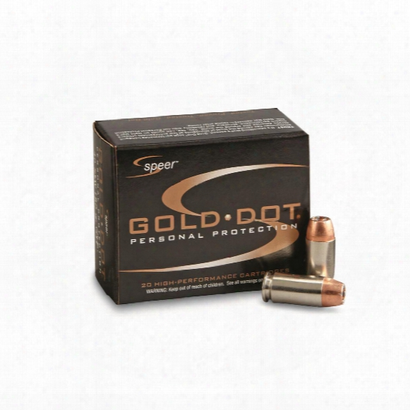 Speer Gold Dot, .40 S&w, Gdhp, 180 Grain, 20 Rounds