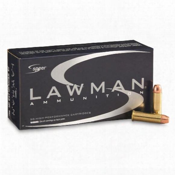 Spere Lawman, .38 Special +p, Tmj Fn, 158 Grain, 50 Rounds