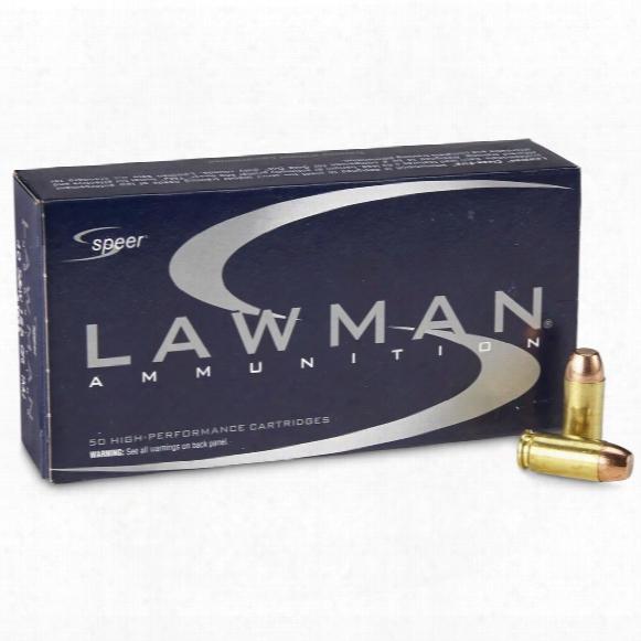 Speer Lawman, .40 S&w, 165 Grain, Tmj Fn, 50 Rounds