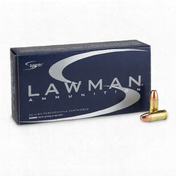Speer Lawman, 9mm Luger, Tmj Fn, 147 Grain, 50 Rounds