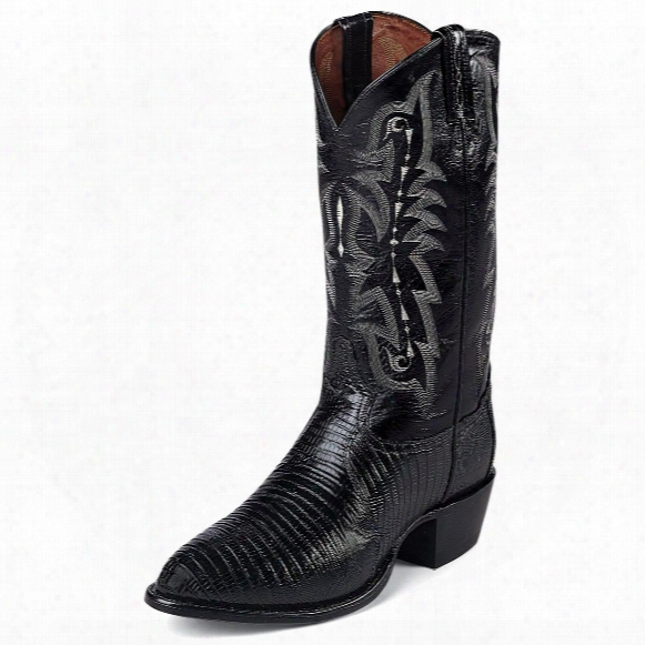 "Tony Lama Men's 13"" Exotic Lizard Western Boots"