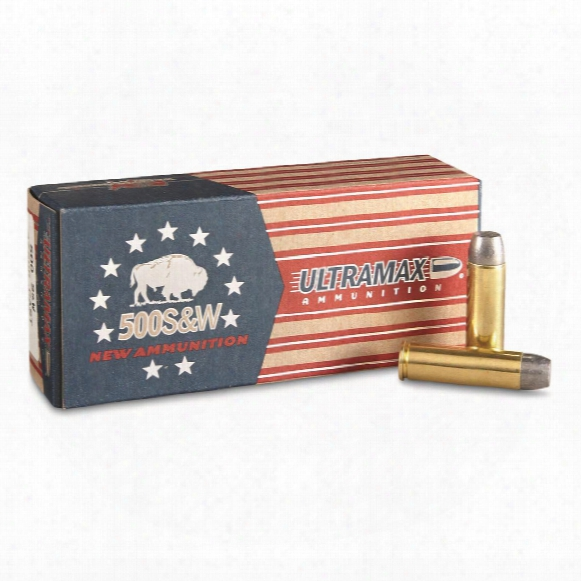 Ultramax, .500 Smith & Wesson, Rnfp-cast, 440 Grain, 20 Rounds
