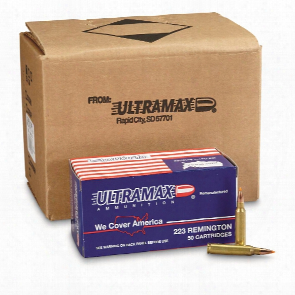 Ultramax Remanufactured, .223 Varmint, Nbt, 55 Grain, 250 Rounds