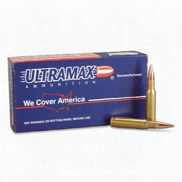 Ultramax, Remanufactured, .308 Cartridge, Speer, Bthp, 168 Grain, 20 Rounds