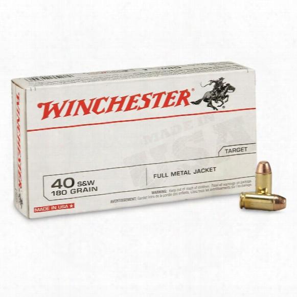 Winchester, .40 S&w, Fmj, 180 Grain, 50 Rounds