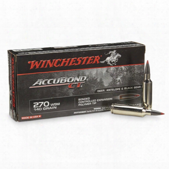 Winchester Accubond Ct, .270 Wsm, Accubond Ct, 140 Grain, 20 Rounds
