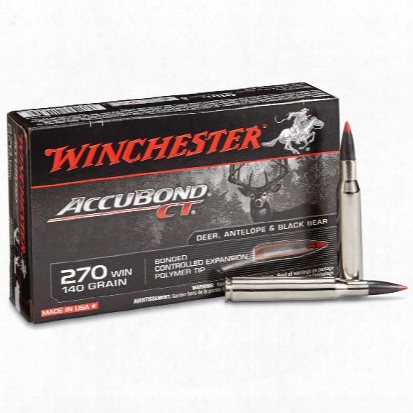 Winchester Accubond Ct Rifle, .270 Winchester, Accubond Ct, 140 Grain, 20 Rounds