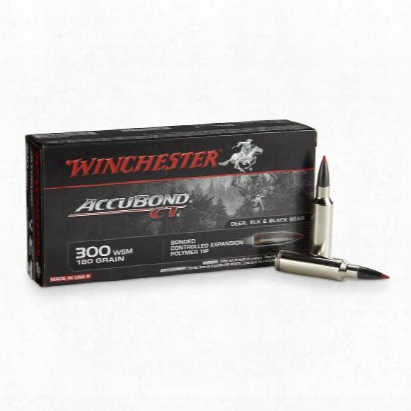 Winchester Accubond Ct Rifle, .300 Wsm, Accubond Ct, 180 Grain, 20 Rounds
