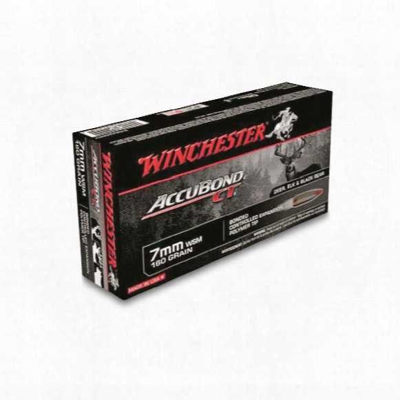 Winchester, Accubond Ct Rifle, 7mm Wsm, 160 Grain, 20 Rounds