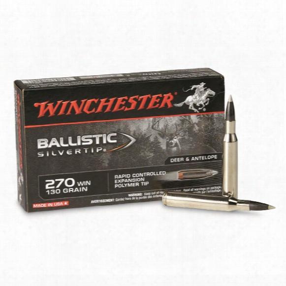 Winchester Ballistic Silvertip, .270 Winchester, Bst, 130 Grain, 20 Rounds